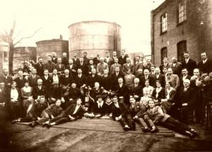 Olieslagerij Verloop groepsfoto 1930-50 jaar